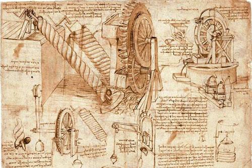 Да, на бумаге Леонардо явно