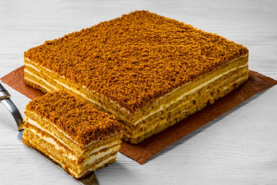 Рецепт медового классического торта
