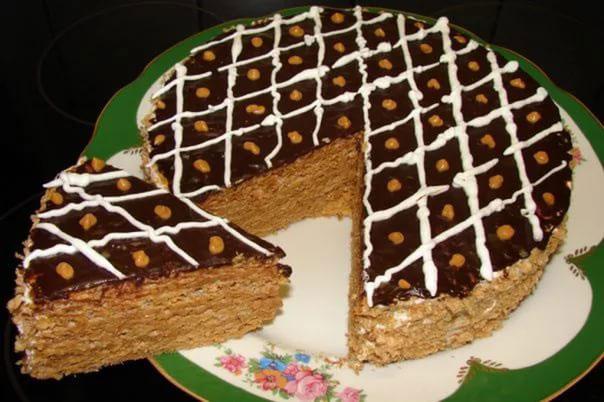 Вафельные тортики своими руками