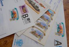 Почтовые конверты с марками